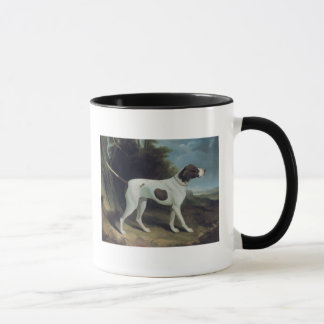 Portrait of a liver and white pointer mug