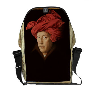 Portrait of a Man, 1433 (oil on oak) (see also 422 Messenger Bags