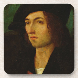 Portrait of a Man, 1506 (oil on panel) Drink Coaster