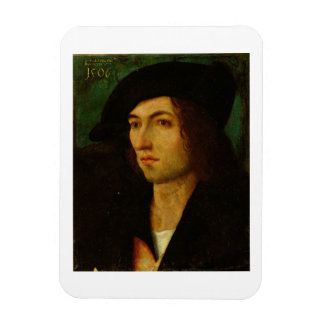 Portrait of a Man, 1506 (oil on panel) Rectangular Photo Magnet