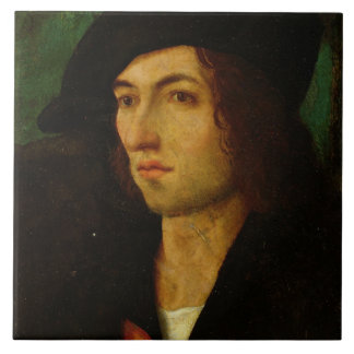 Portrait of a Man, 1506 (oil on panel) Tile