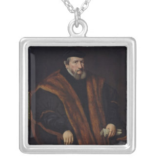 Portrait of a Man, 1564 Silver Plated Necklace