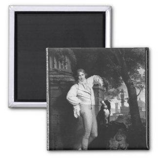 Portrait of a Man, 1796 Square Magnet