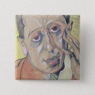 Portrait of a man, 1924 15 cm square badge