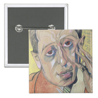 Portrait of a man, 1924 15 cm square badge
