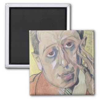 Portrait of a man, 1924 square magnet