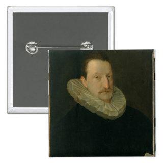 Portrait of a Man 2 15 Cm Square Badge