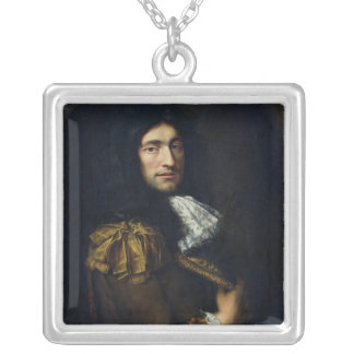 Portrait of a Man 2 Silver Plated Necklace