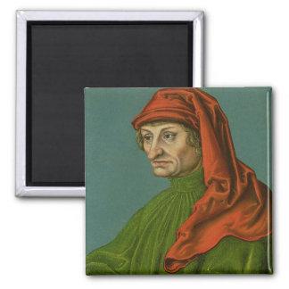 Portrait of a Man 2 Square Magnet