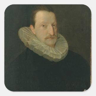 Portrait of a Man 2 Square Sticker