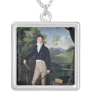 Portrait of a Man 3 Silver Plated Necklace