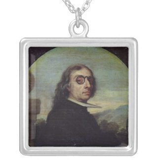 Portrait of a Man 4 Silver Plated Necklace