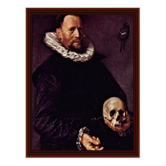 Portrait Of A Man About Sixty, With A Skull Postcard