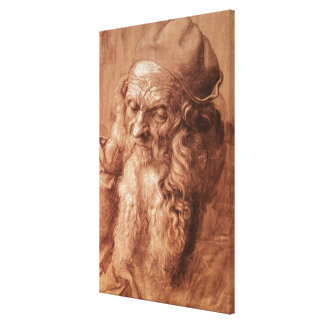Portrait of a man, aged ninety-three, 1521 canvas print