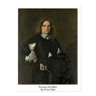 Portrait Of A Man. By Frans Hals Postcard