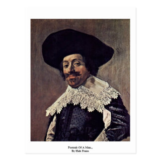 Portrait Of A Man.,  By Hals Frans Post Cards