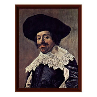 Portrait Of A Man.,  By Hals Frans Post Card