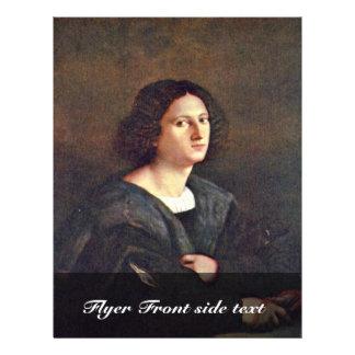 Portrait Of A Man By Palma Il Vecchio Flyer