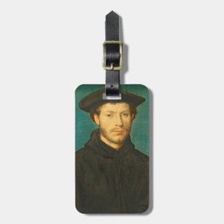 Portrait of a Man, c. 1536- 40 (oil on walnut) Luggage Tag