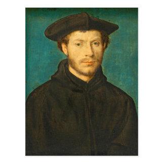 Portrait of a Man, c. 1536- 40 (oil on walnut) Postcard