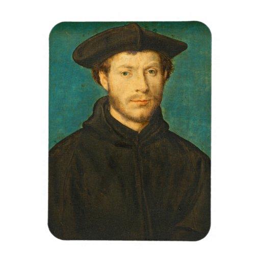 Portrait of a Man, c. 1536- 40 (oil on walnut) Flexible Magnet