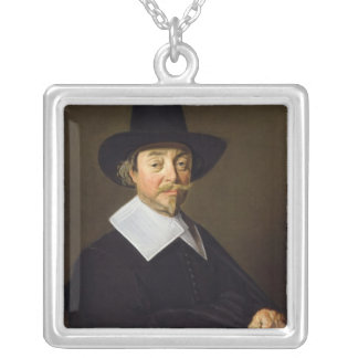 Portrait of a man, c.1643-45 silver plated necklace