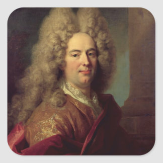 Portrait of a Man, c.1715 Square Sticker