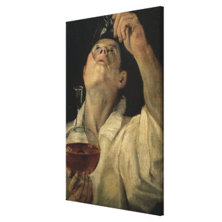 Portrait of a Man Drinking, c.1581-4 (oil on canva Canvas Prints