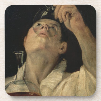 Portrait of a Man Drinking, c.1581-4 (oil on canva Drink Coasters
