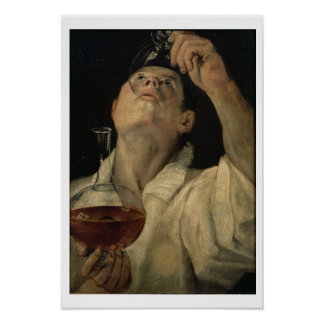 Portrait of a Man Drinking, c.1581-4 (oil on canva Poster