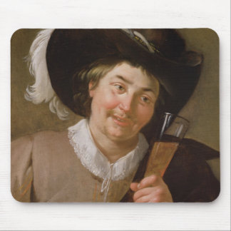 Portrait of a Man Holding a Wine Glass Mouse Pad