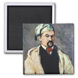 Portrait of a Man in a Blue Cap Square Magnet