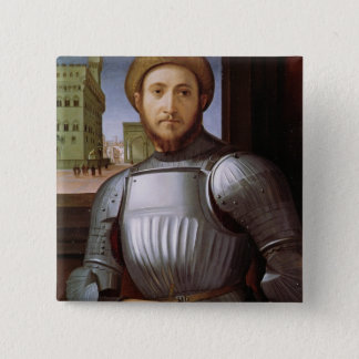Portrait of a Man in Armour 15 Cm Square Badge