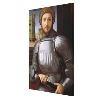 Portrait of a Man in Armour Canvas Print