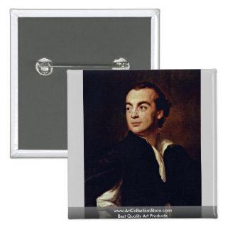 Portrait Of A Man (Johann Joachim Winckelmann?) 15 Cm Square Badge