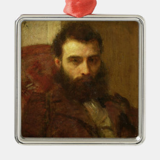 Portrait of a Man (oil on panel) Christmas Ornament