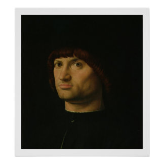 Portrait of a Man, or The Condottiere, 1475 (oil o Poster