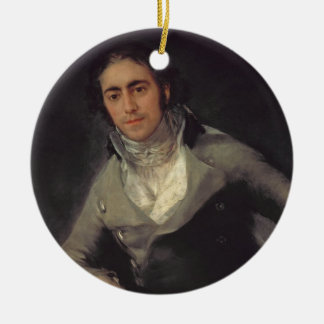 Portrait of a man presumed to be Don Evaristo Pere Christmas Ornament