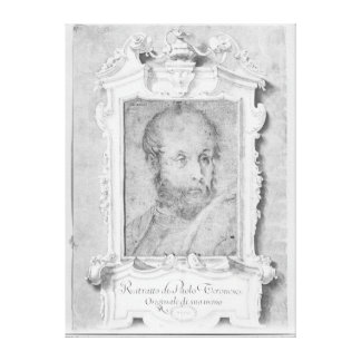 Portrait of a man presumed to be Veronese Canvas Print