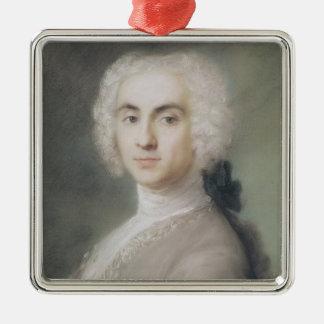 Portrait of a Man Silver-Colored Square Decoration