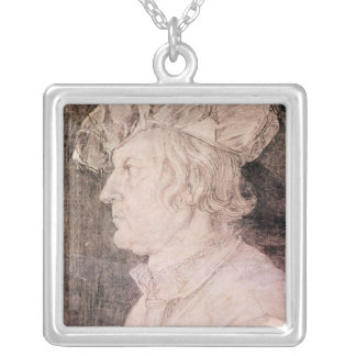 Portrait of a Man Silver Plated Necklace