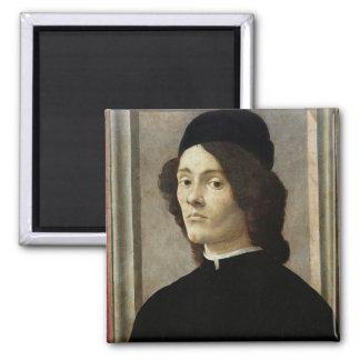 Portrait of a Man Square Magnet
