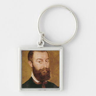 Portrait of a Man with a Beard Key Ring