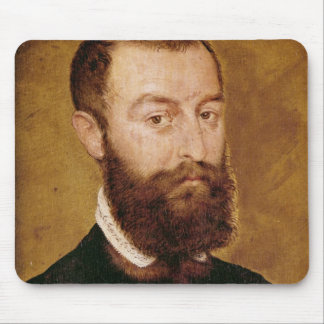 Portrait of a Man with a Beard Mouse Mat