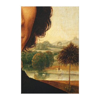 Portrait of a Man with a Coin Stretched Canvas Print