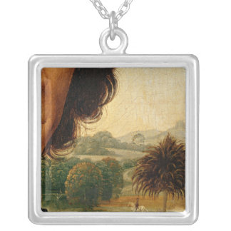 Portrait of a Man with a Coin Silver Plated Necklace