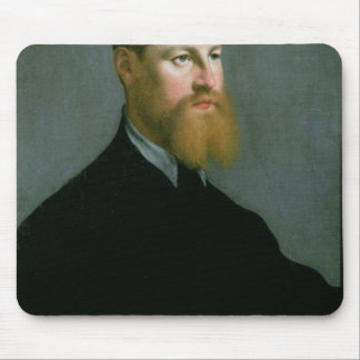 Portrait of a man with a ginger beard mouse pad