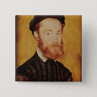 Portrait of a Man with Blonde Hair 15 Cm Square Badge