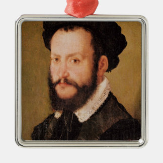 Portrait of a Man with Brown Hair, c.1560 Christmas Ornament