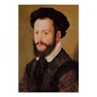 Portrait of a Man with Brown Hair, c.1560 Poster